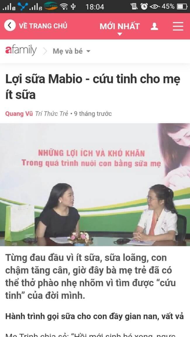 afamily đưa tin về Mabio