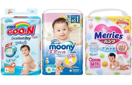 Bỉm cho trẻ sơ sinh loại nào tốt - Các loại bỉm cho trẻ sơ sinh