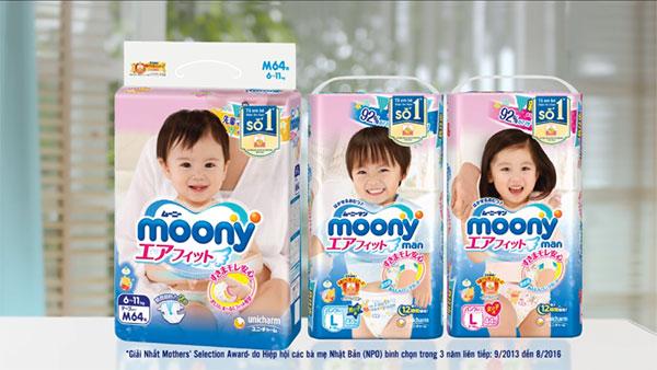 Bỉm Moony Nhật Bản cho trẻ sơ sinh và trẻ nhỏ