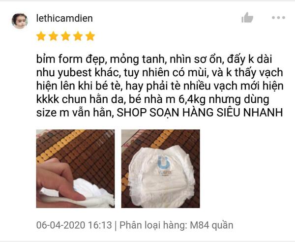 Đánh giá trên Shopee 5