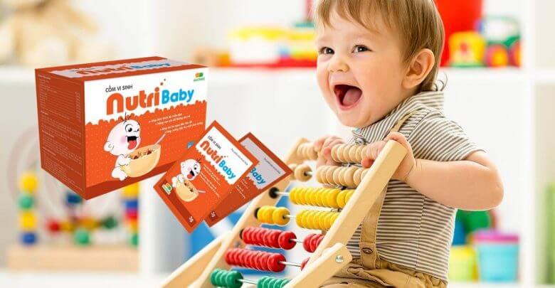 cốm vi sinh nutri baby cho trẻ biếng ăn chậm lớn