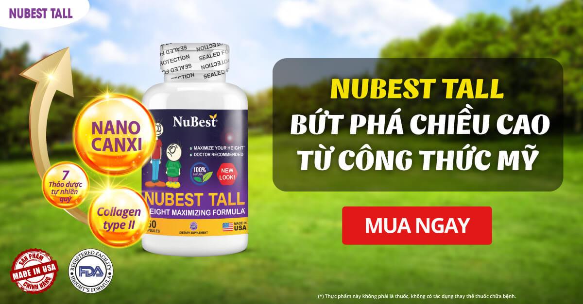 nubest tall tăng chiều cao tối đa cho trẻ