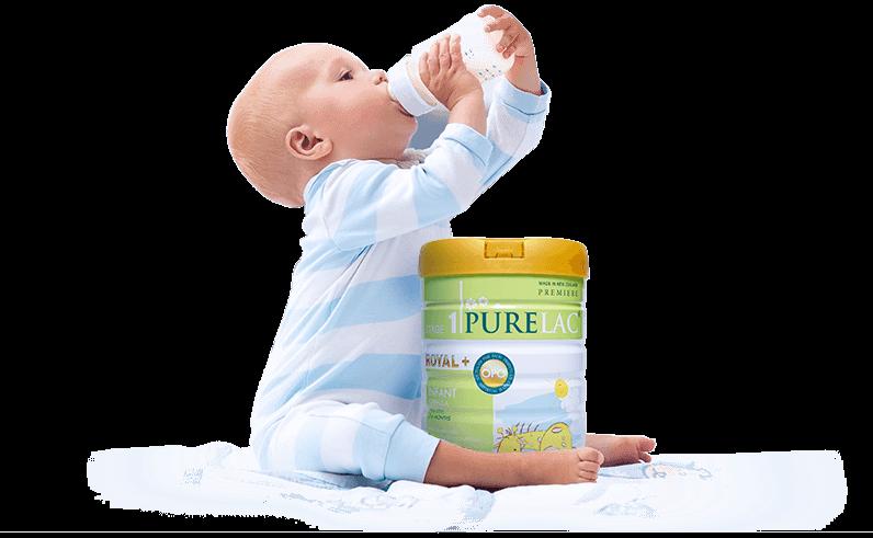 có nên cho con uống sữa bột Purelac không
